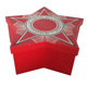 Red Five-pointed Star Custom Logo Printed Packaging Box