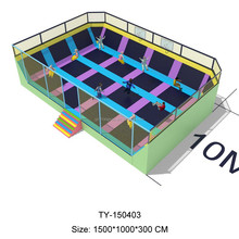 CE Certificated Commercial Big indoor Kids Jumping Trampoline With Safety Net
