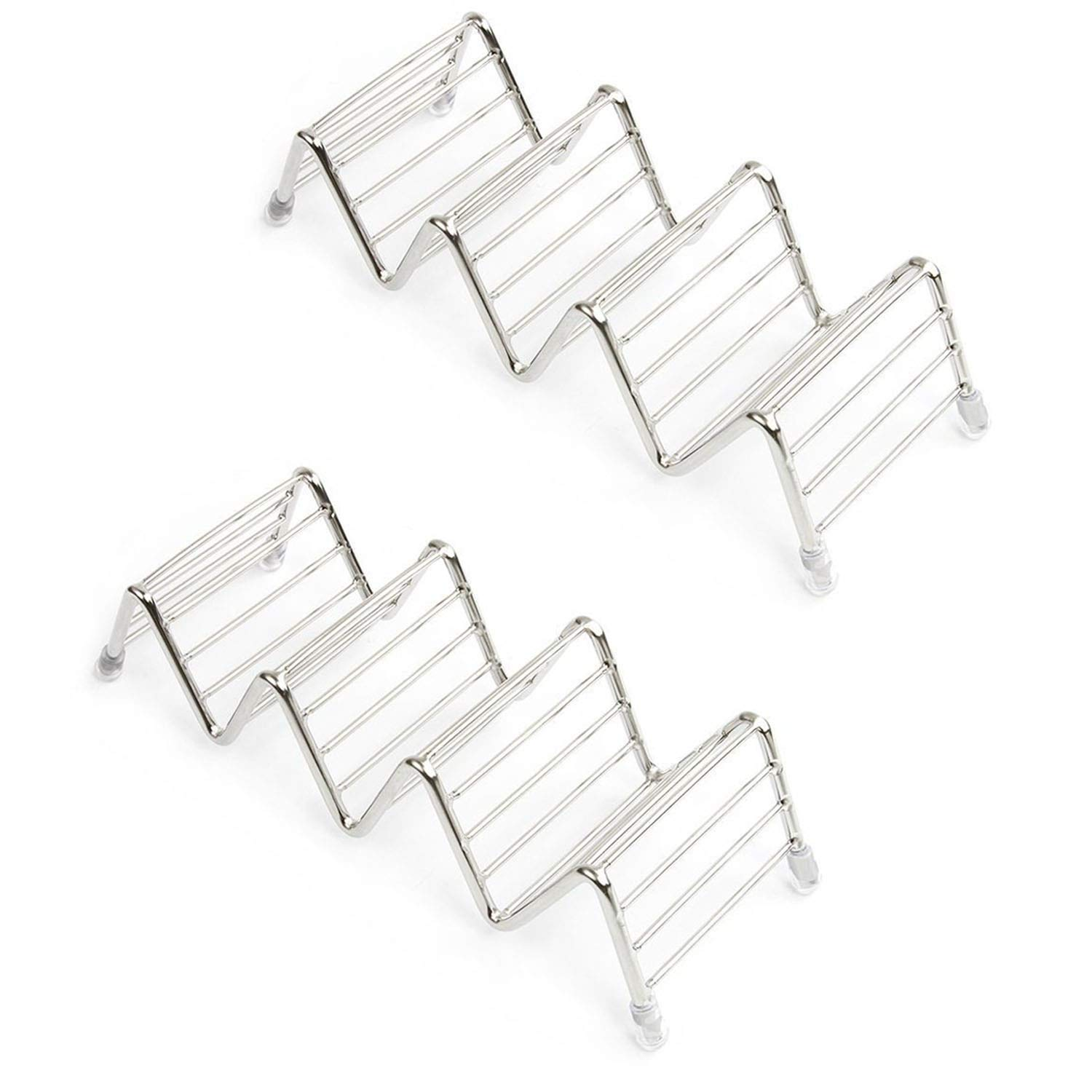 3pcs Taco Shell Holder Tortilla Stand Rack Stainless Tray Holds 4-5 Tacos