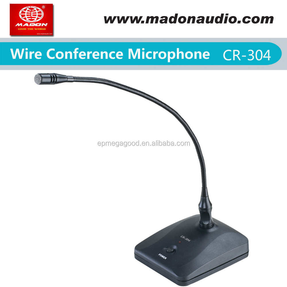 CR-304 wired condenser conference meeting microphone, with 6M cable, conference room microphone system