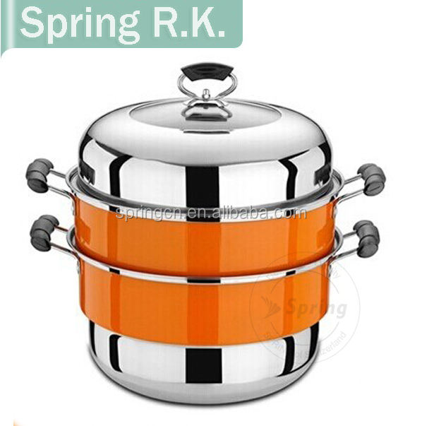 Stainless steel Color-coated Bain Marie/Double layer steamer pot