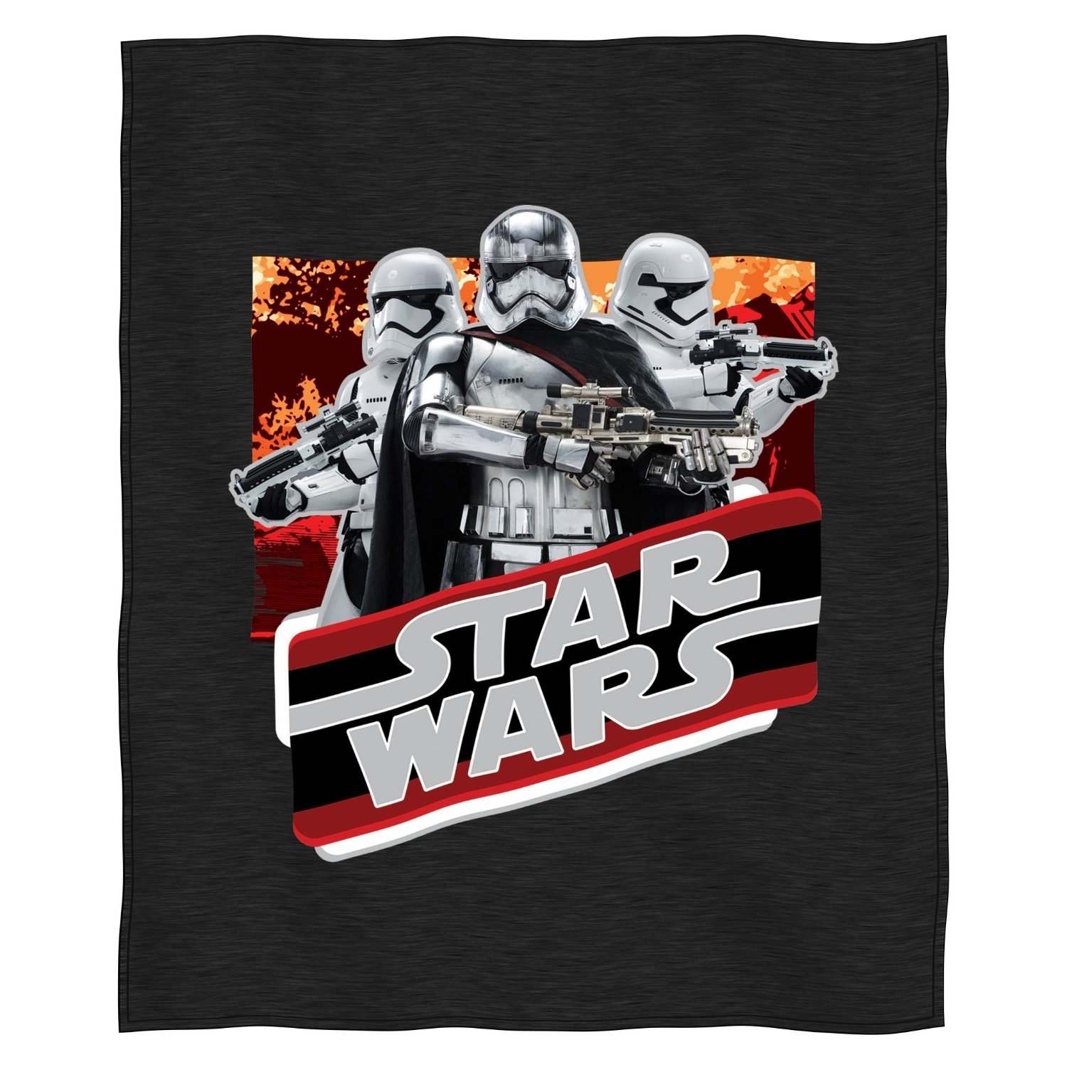 """Lucas Films Star Wars Episode 7: The Force Awakens, """"Fire Raid"""" Sweatshirt Throw by The Northwest Company, 50"""" by 60"""""""