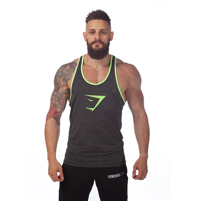 d2c04a7738ea3 Get Quotations · GYM Tank Bodybuilding Tank Top Sport Vest Tight Wicking  Vest Men Summer Cotton Vest Undershirt Muscle