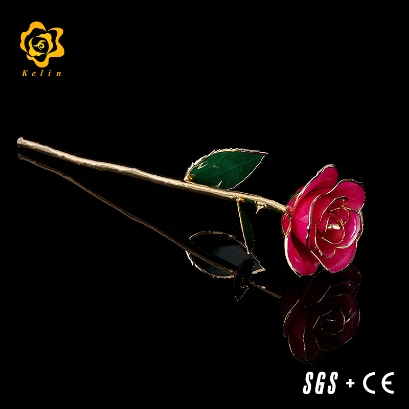 Creative Crafts and <strong>arts</strong> for lovers 27cm Gold Foil Real Rose for Dating and special Day