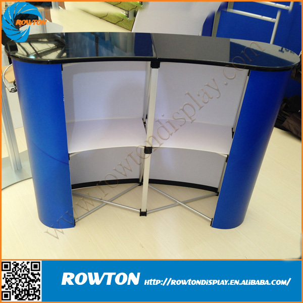 Trade Show Booth Magnetic Curved Pop Up Counter Portable Exhibition