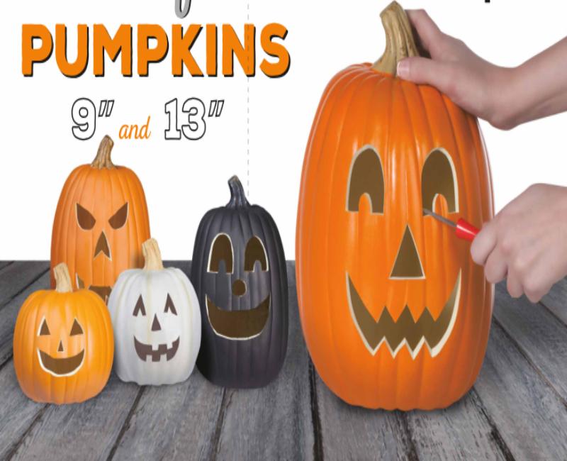 decorating with fake pumpkins close to home - Fake Halloween Pumpkins