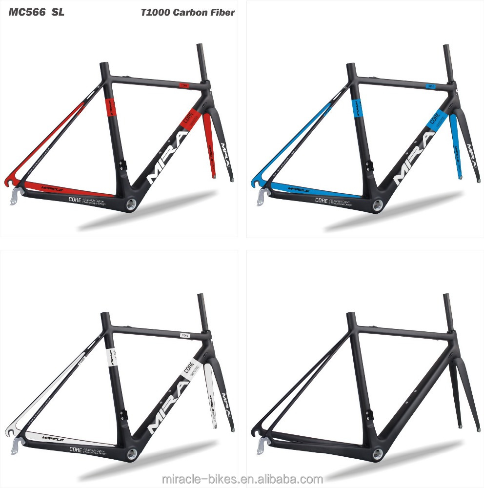 High Modulus Toray T1000 Carbon Road Bike Frame Super Light Road Bicycle Frame/Fork/Seatpost/Clamp 2016 MC566