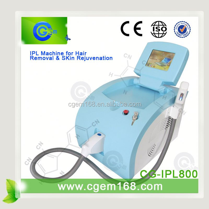 CG-IPL800 Touch screen elight ipl rf laser machin for Hair removal and Skin rejuvenation