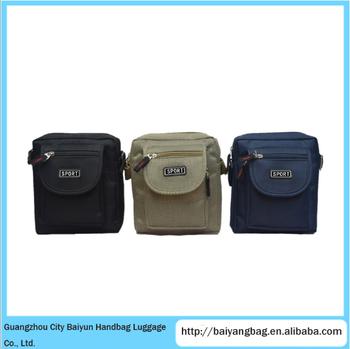 ef7876fd579 Men Canvas Small sport sling bag Shoulder Bag Message Bag for Travel