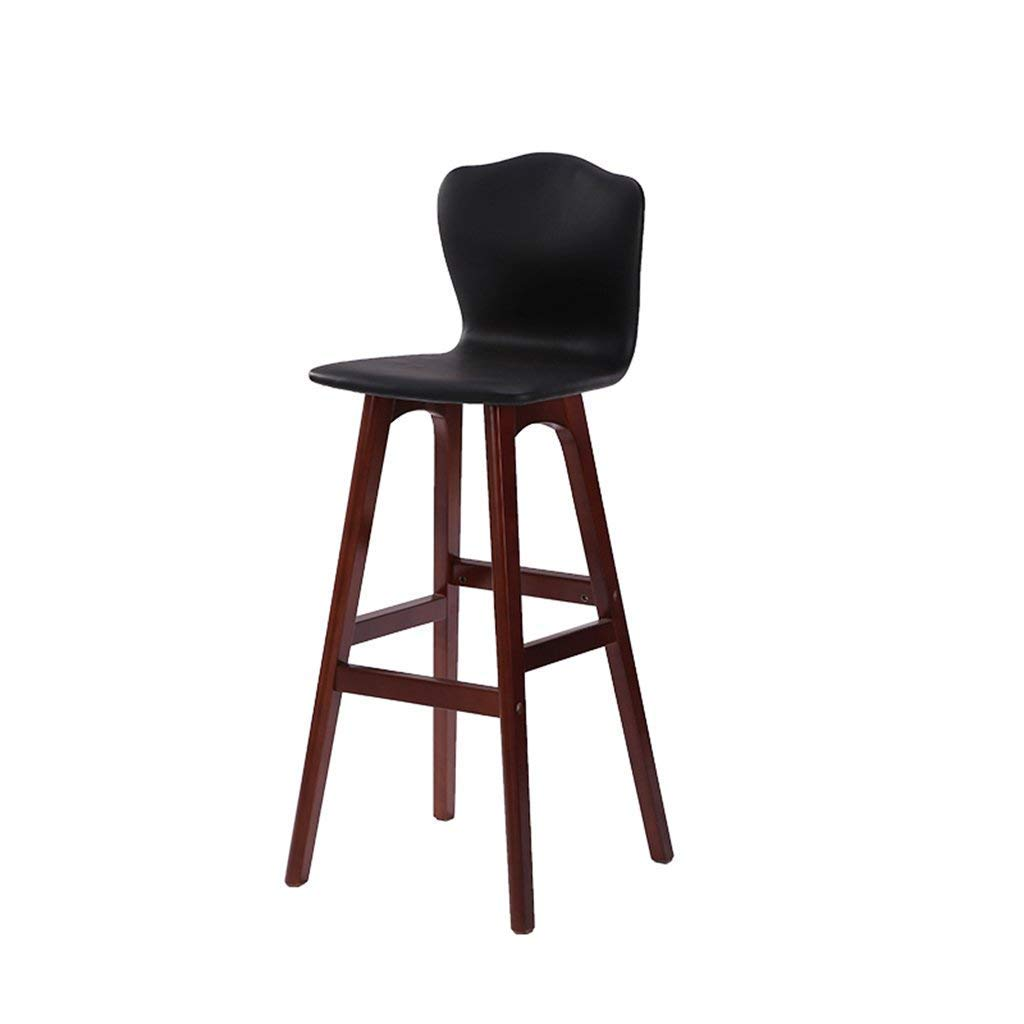 DEED Chair Stool - Bar Chair High Backrest Chair Bar Stool High Chair Solid Wood Woody Creative Simple Modern Fashion Bar Living Room Balcony Salverform High Backrest Adult Home Stool