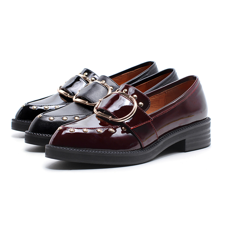 shoes British loafers style sole flat casual shoes thick UXzUBq
