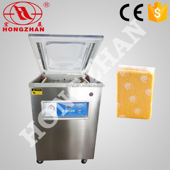 vacuum sealer packer with nitrogen gas flush and long vaccum chamber for ham sauage