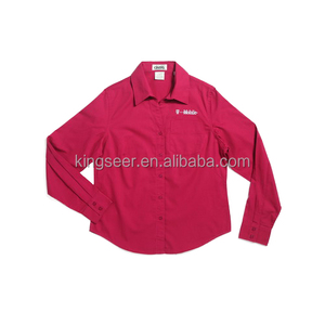 Wholesale Customized Long sleeve Cotton/polyester Workwear Dress Shirt