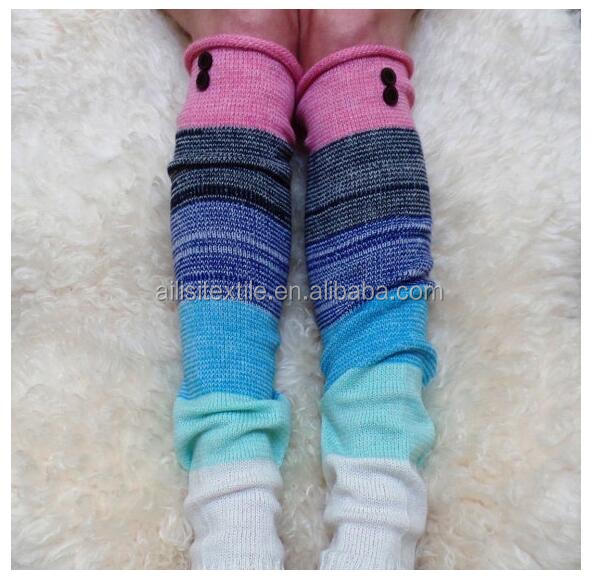 High Quality Woman Knitted Wool Boot Socks, Knitted Leg Warmers