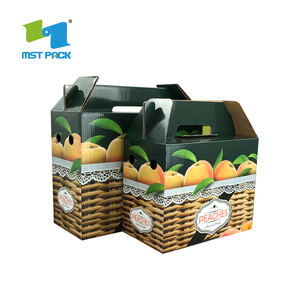 Popular Wax Coated Paper Fruite Corrugated Box