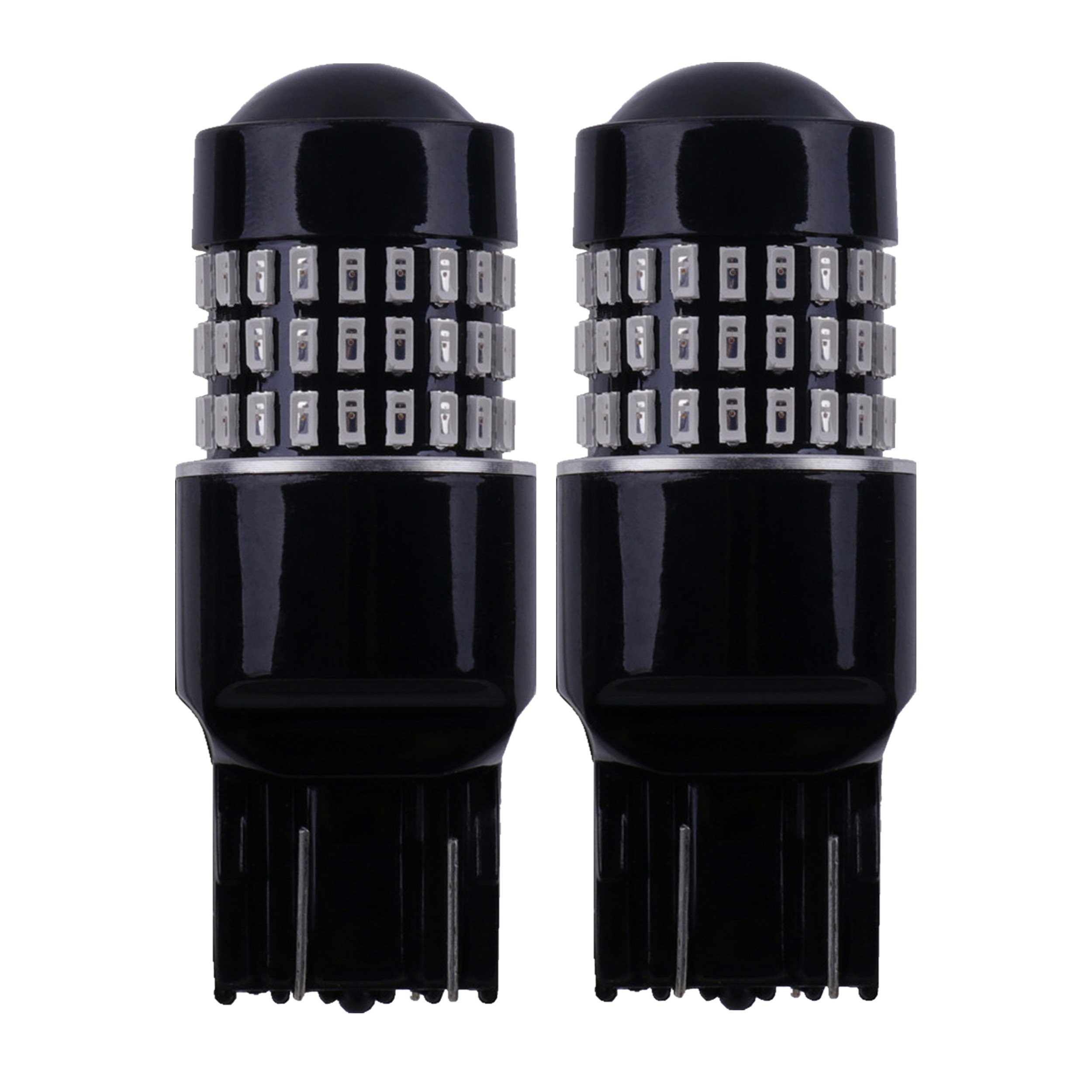 LABBYWAY 2 Pcs Super Bright Low Power 3014 78-EX Chipsets DC 9-30V,7443 7440 992 T20 LED Used For Brake Lights, Tail Lights,Red
