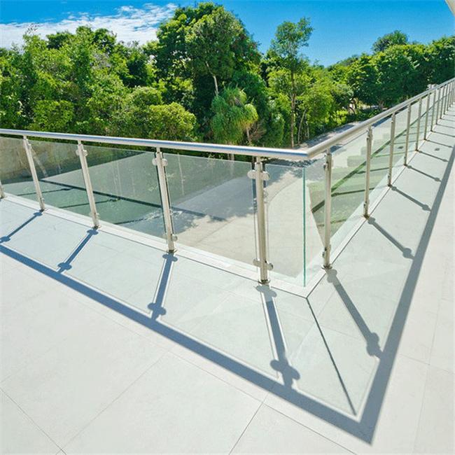 Glass Staircase Balustrade Kit: Glass Guardrail Balcony Handrail Glass Stair Railing Kits
