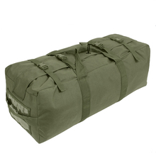 Olive Drab Enhanced Nylon Large Original US Army Tactical Military Duffle Bag With Backpack Straps