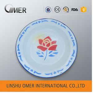 fashionable enamel ware soup bowl dinner tray