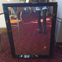 Polished Black Framed Stainless Steel Mirror