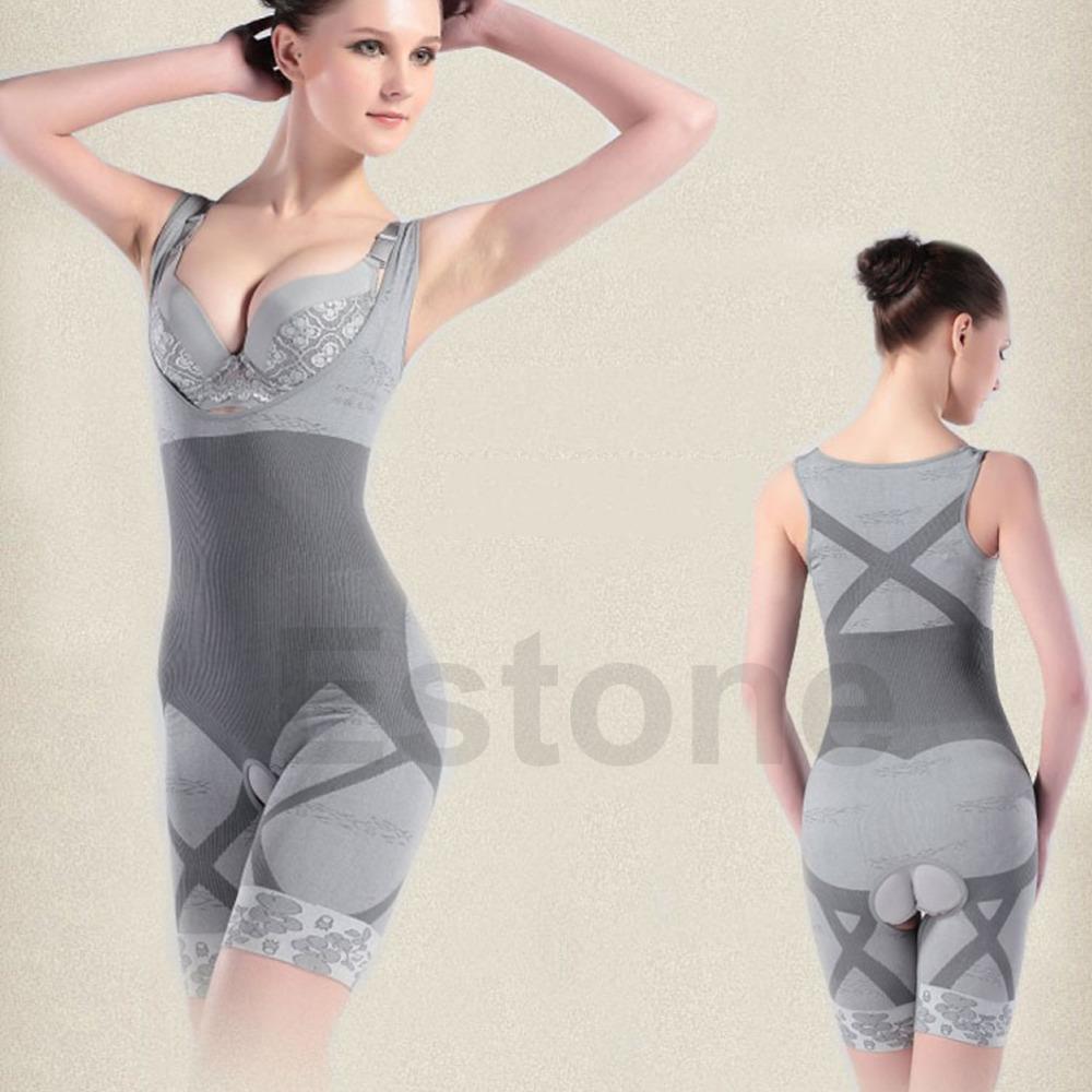 Горячая распродажа новый женский похудения бамбук Underbust Shapewear формирователь тело управления боди M / XL