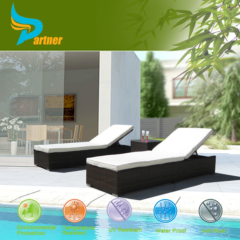 PNT-E-772 Anhui Partner Wholesale Fiberglass Dimensions Outdoor Sun lounger With Shade