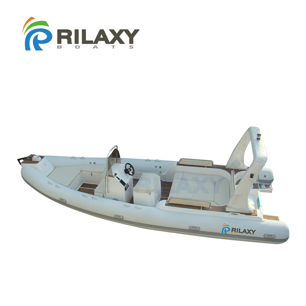 Rilaxy 7.0m 23ft Wide RIB <strong>boat</strong> RIB700 with Sun Bathing, Teak Wood Floor, Shower System, Hydraulic Steering, Orca Fabric Tube