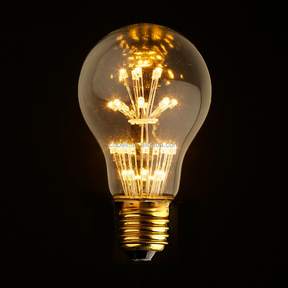 Lampade E27 A Led.Star Edison 1w A60 A19 Led Lampade Lampadina Vintage Light E27 Bulb Holder Buy Led Lampade Lampadina Vintage Light 1w Vintage Edison Bulb