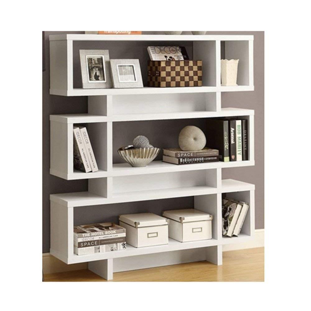 Get Quotations · Svitlife White Modern Bookcase Bookshelf For Living Room  Office Or Bedroom