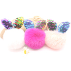 Rabbit Key Chain Fur Pom Keychain Wedding Small Gift Useful Hot New Product For 2018