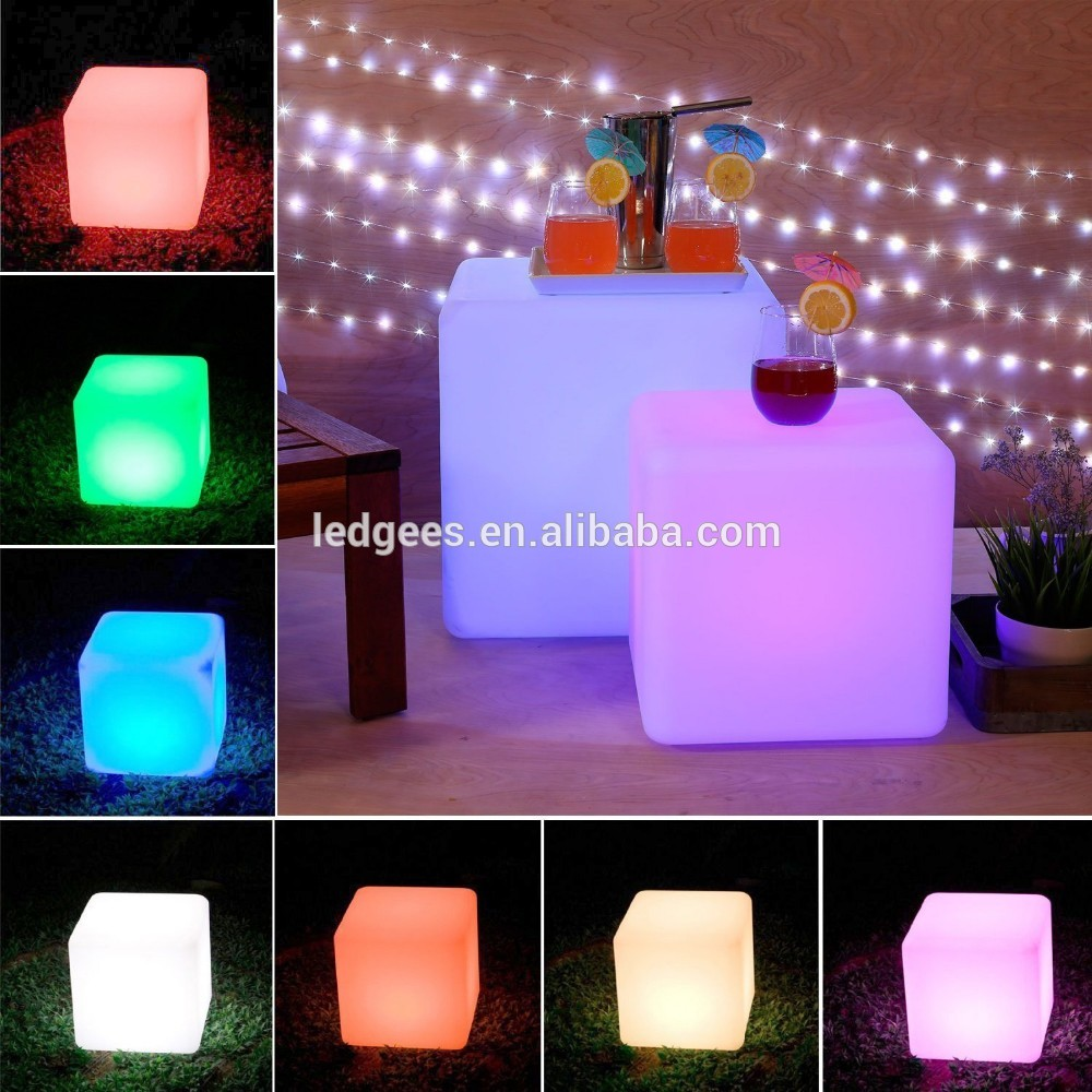 Intelligentize Waterproof 16Color Changing PE Plastic Lighting LED Cube  Chair