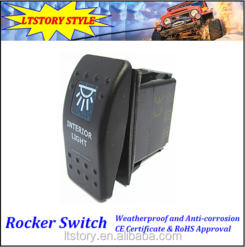 ROCKER TOGGLE SWITCH LED LIGHT BAR CAR BOAT MARINE 12V 20A 4PIN On/Off