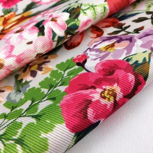 Supreme Bag Quality Fabric Factory Textiles 100% Polyester Floral Material Fabric