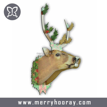 3d wall puzzles wooden deer christmas decorations - Wooden Deer Christmas Decorations