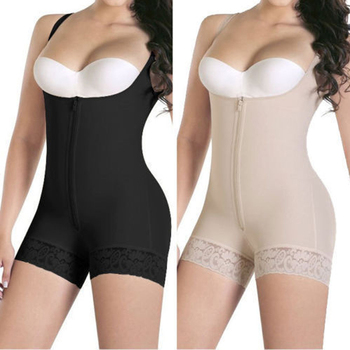 3cd369f2a2 Amazon Hot Selling Women Weight Loss Bottom Lace Prevent Curling Perfect  Full Women Body Shaper