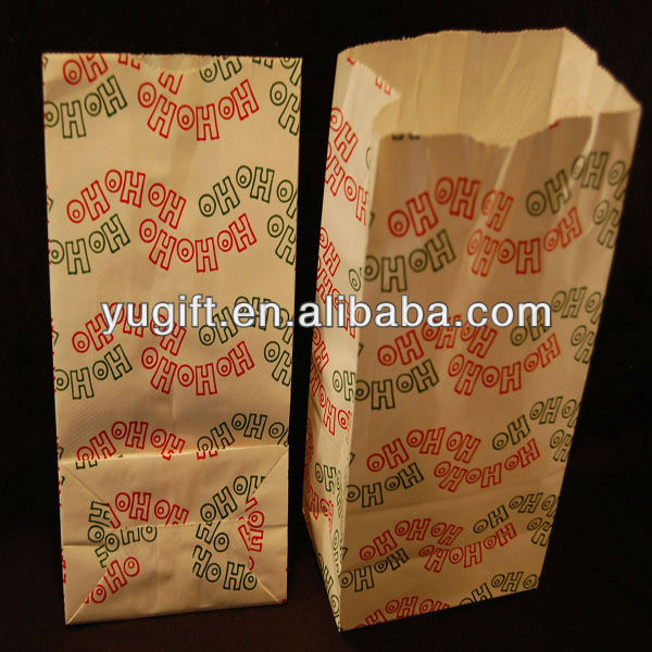 Christmas Paper Goodie Treat Food Lunch Bag Kraft Unique Fun Creative Custom Candy Bag
