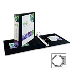 AVERY-DENNISON 19700 Economy Showcase View Binder with Round Rings, 2quot; Capacity, Black