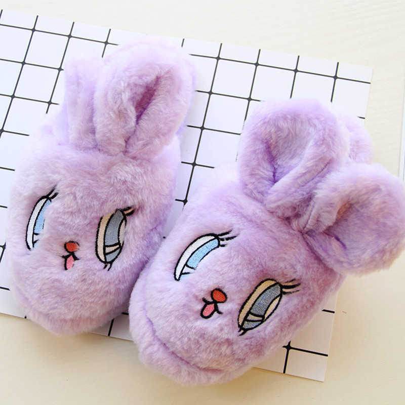 China Factory Cheap Wholesale Plush Toys Cut Indoor Rabbit Slipper