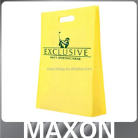 wholesales handlenon woven t shirt bag for market hall