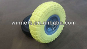 PU foam solid wheel hand trolley cart wheel 3.00-4
