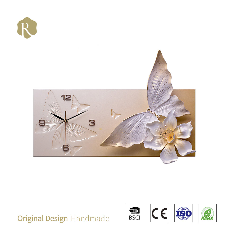 wholesale factory price wall 3D art 2017 RELIFE decor hot art painting wall clock creative home plastic