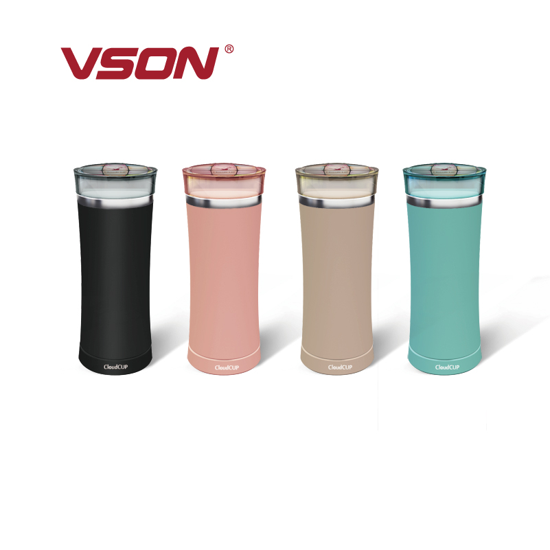 promotional stainless steel filtered sports water bottle