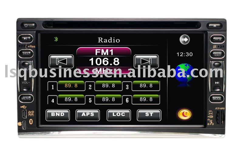 "2-Din Touch Screen 7"" TFT LCD Car DVD Player with SD Card reader, AM/FM radio"