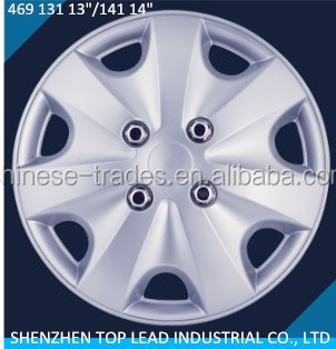 Full Set 4 Pcs Plastic Car Wheel Trims 13 Inch And 14
