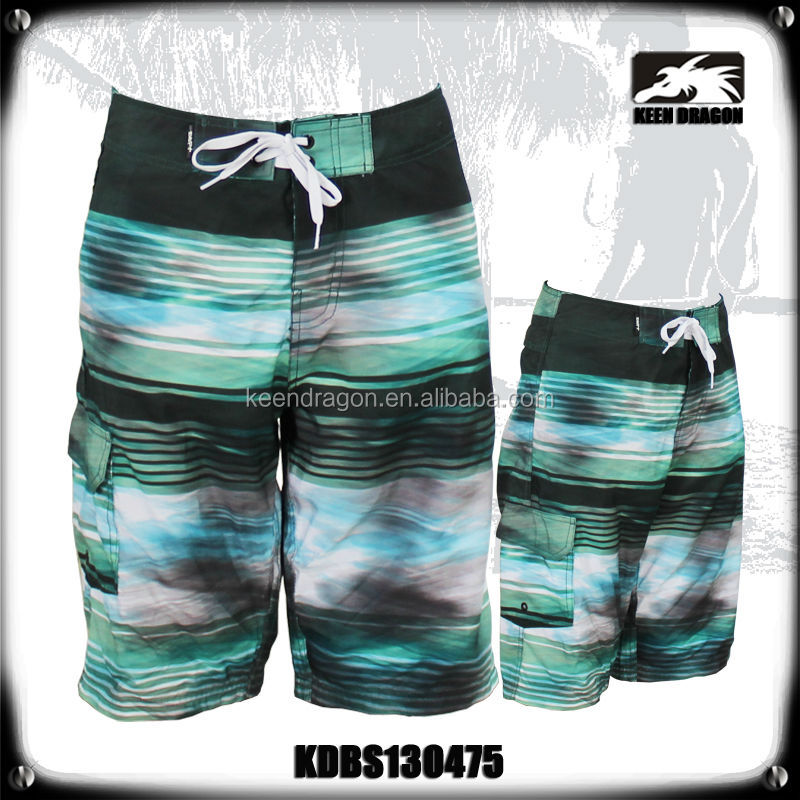 mens beach style custom pattern fashion swimwear custom