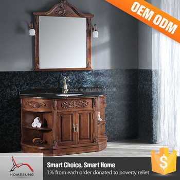 Exceptional Cheap Sink And Top Curved Bathroom Vanity For Sale