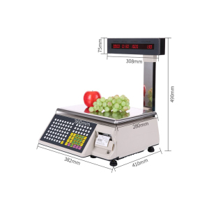 Electronic barcode scale weighing device supermarket weighing scales built in printer weighing balance