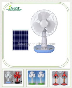 Table Fan , Solar Floor Fans Quiet, White Solar electric fan