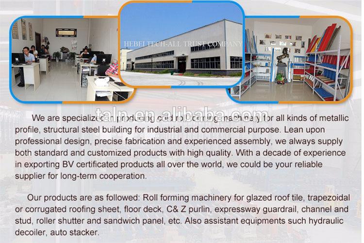 Metalen Dakbedekking Panel Kleur Staal Trapezium Sheet Roll Forming Machine