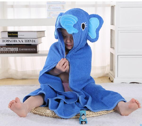 Elephant Embroidered Personalized Hooded Towel